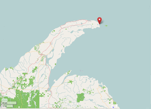 Keweenaw Rocket Range - Map showing the location of the Range at the tip of the peninsula.