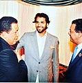 Khaled K. El-Hamedi With Hugo Chavez.jpg