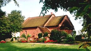 The church of Klanxbüll features a thatched roof
