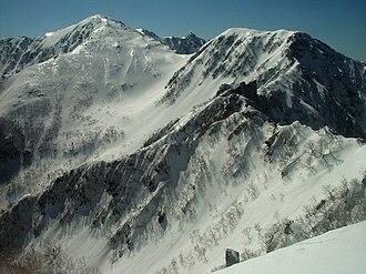 Kiso Mountains - Image: Kisokomagatake from mugikusadake 25 2007 4 29