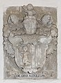 Klagenfurt Viktring Stift Prälatur Durchgang Wappenrelief DE DEO AUXILIUM 23092017 1132.jpg