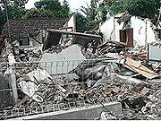 Rumah roboh akibat Bencana alam di Klaten