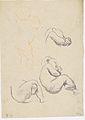 Klimt - Drei Studien eines sitzenden Kindes nach rechts, stehendes Kind.jpeg