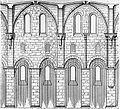 Kloster arnsburg zisterzienser klosterkirche aufriss langhaus dehio 1888.jpg