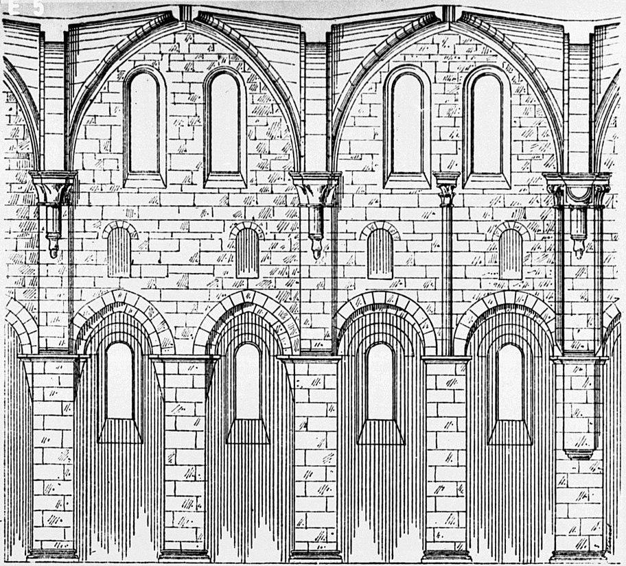 Kloster arnsburg zisterzienser klosterkirche aufriss langhaus dehio 1888