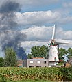 Knokmolen and smoke in Ruiselede, Belgium (DSCF0075).jpg