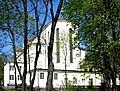 Kościół Matki Bożej Zwycięskiej od Jez. Kamionkowskiego 1.JPG
