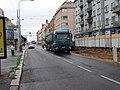 Košíře, Plzeňská, rekonstrukce TT u zastávky Klamovka (01).jpg