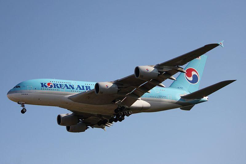 Ein Airbus A380-800 der Korean Air