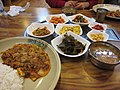 Korean cuisine-Jeyudeopbap and banchan.jpg