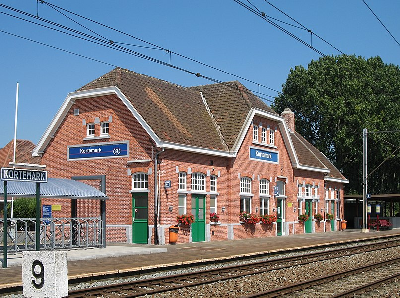Kortemark (Province of West Flanders, Belgium): railroad station