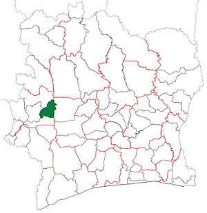 Kouibly Department - Kouibly Department upon its creation in 2005. It kept these boundaries until 2012, but other subdivision boundary changes began to be made in 2008.