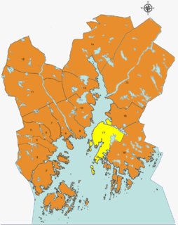 Søm District of Kristiansand in Southern Norway, Norway