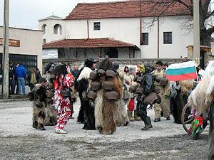 Slavic carnival - Kukeri from Gorna Vasilitsa