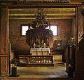Kvernes Stave Church - Choir division and altarpiece.jpg
