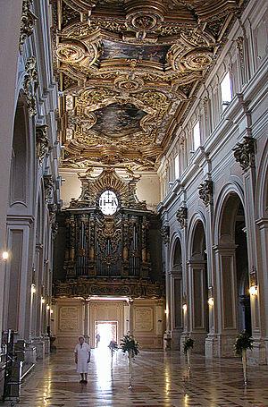 Basilica of San Bernardino - Inside partial view
