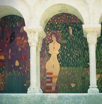 "Carles Delclaux Is - ""L'Empordanet"", tapestry fragment, 350x700 cm., Carles Delclaux, 1981"