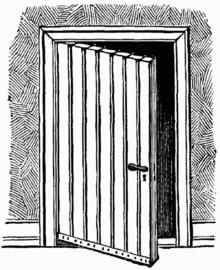 einfache zimmertür