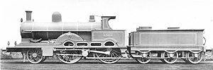 LNWR Teutonic Class - No. 1301 Teutonic Crewe Works portrait