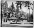 LOOMIS RANGER STATION. LOOKING E. - Lassen Park Road, Mineral, Tehama County, CA HAER CA-270-21.tif