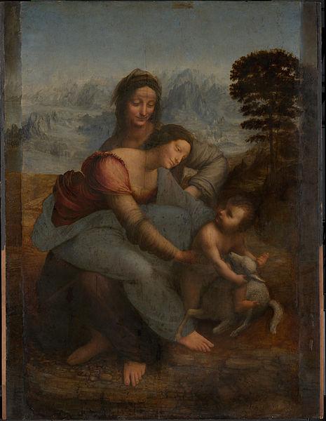 « Sainte Anne, la Vierge et l'Enfant Jésus » de Léonard de Vinci