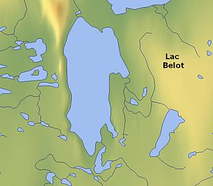 Lac Belot - Map
