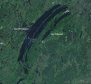 Lake Mistassini - Satellite image of Lakes Mistassini and Albanel