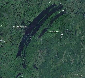 Lake Mistassini - Satellite image of Lakes Mistassini and Albanel