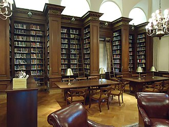 Lafayette College - Kirby Library, with its oak-paneled bookcases, cork floor, and elaborate carvings, is located in the Kirby Hall of Civil Rights.
