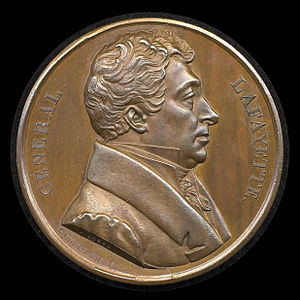 Lafayette dollar - Caunois's medal of Lafayette