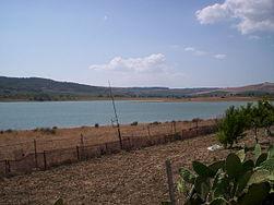 Riva del lago Arancio