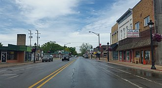 Lake City, Michigan - Looking north along Main Street (M-66)