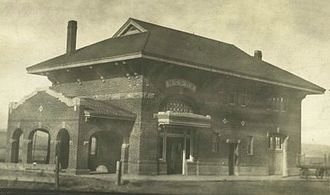 Nevada–California–Oregon Railway - Lakeview station photographed in 1915