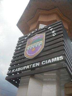 Ciamis Regency - Image: Lambang Kabupaten Ciamis di sebuah Monumen Perbatasan