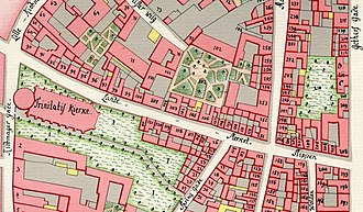 Landemærket - Landemærket seen on a detail from Gedde's district map