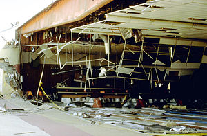 1992 Landers earthquake - Damage to the Yucca Lanes Bowling Center from the 1992 quake