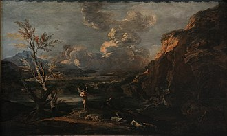 Salvator Rosa - Landscape with Tobit and the Angel, circa 1670 (Musée des Beaux-Arts de Strasbourg)