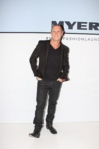 Larry Emdur - Larry Emdur in at the Myer Fashion Parade Spring/Summer fashion launch