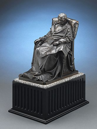 Vincenzo Vela - Last Days of Napoleon by Vincenzo Vela. Circa 1867. Bronze on marble and wood base
