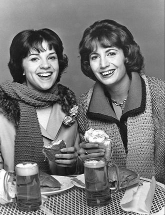 Laverne & Shirley - Shirley (left) and Laverne (right)