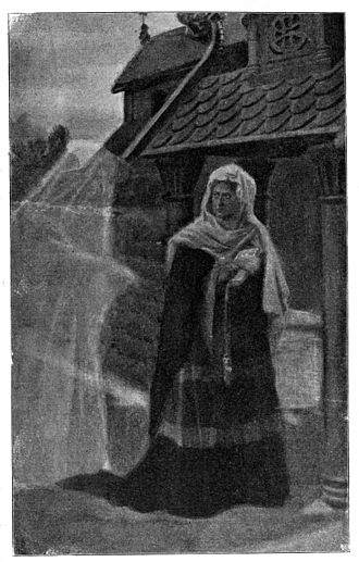 Laxdæla saga - Guðrún encounters a ghost after her fourth and last husband Þorkell Eyjólfsson drowned at sea.