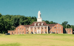 Southbury Training School - Lenore H. Davidson Building, the administrative building at the Southbury Training School that also houses a location of the CT State Employees Credit Union.