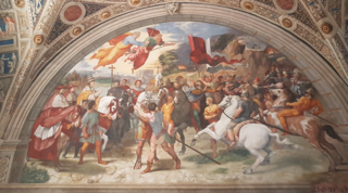 <i>The Meeting of Leo the Great and Attila</i> fresco by Raphael