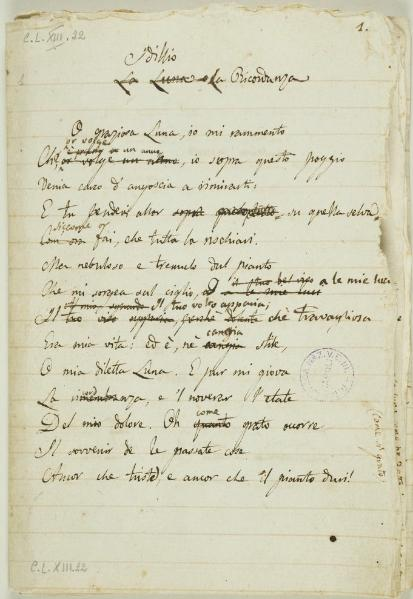File:Leopardi - Idilli, manoscritto, Napoli, 1819-1821.djvu