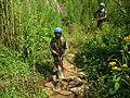 Les casques bleus indiens sécurisent la population par des patrouilles à pied dans la forêt de Kilambo (16739668555).jpg