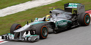 Mercedes F1 W04 - Image: Lewis Hamilton 2013 Malaysia FP2 1