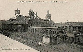 Nord-Pas de Calais Mining Basin - Image: Liévin Fosse n° 1 1 bis 1 ter des mines de Liévin (G)