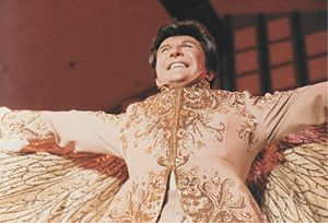 Stage clothes - Liberace was well known for his extravagant stage clothes.
