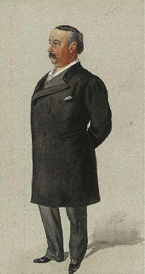 Edward Lloyd (tenor) - Lloyd as caricatured by Lib for Vanity Fair, 1892