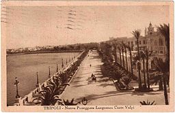 Libia-Tripoli-1935-lungomare-Conte-Volpi